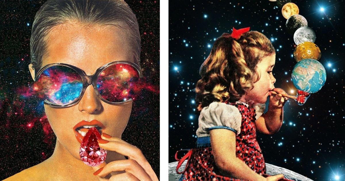 15 Collage que crean una exploción de colores en tu cabeza