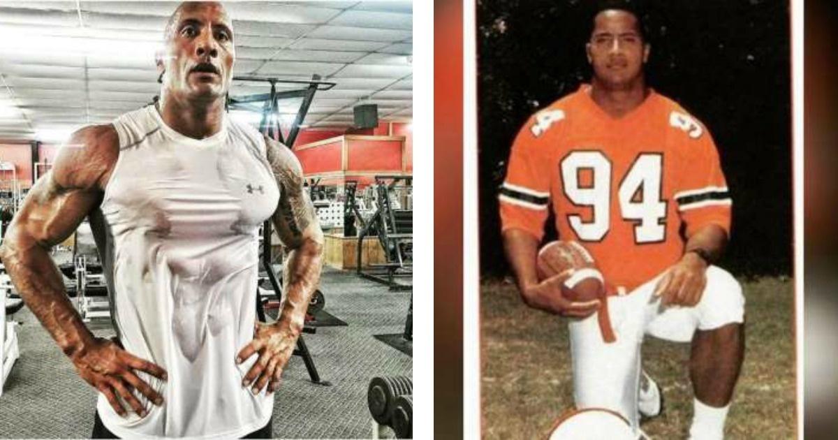 Mira el tremendo cambio que tuvo The Rock para ser un hombre mega aclamado