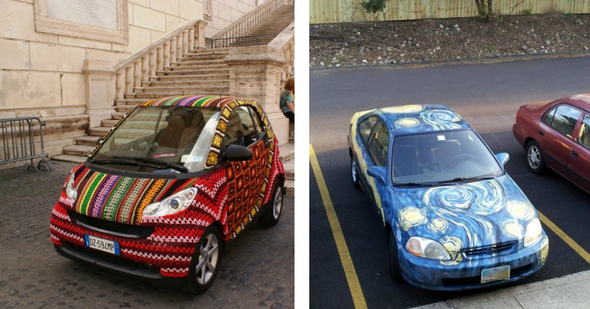 12 Autos que fueron decorados de manera original e increíble
