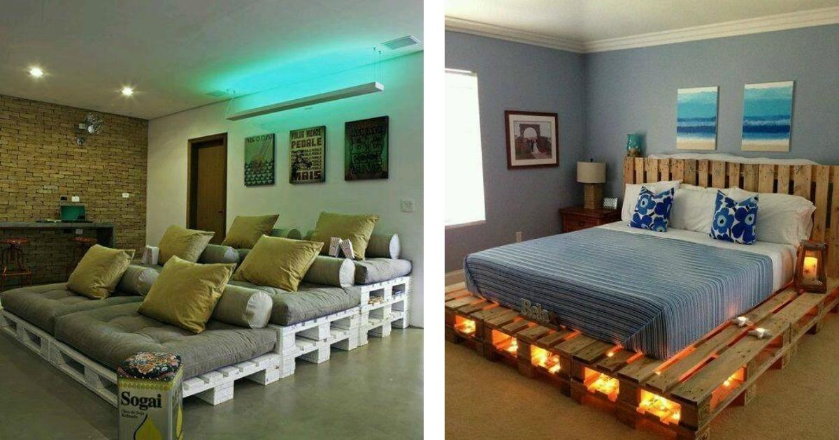 Atrévete a diseñar tus muebles con tarimas. Ideas fantásticas.