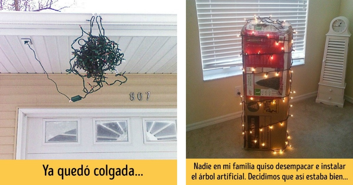 12 Personas que tuvieron mucha flojera para hacer decoraciones navideñas