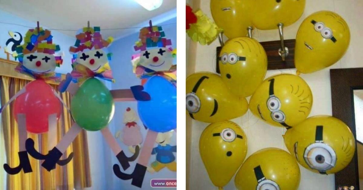 15 ideas para decorar tu fiesta infantil con globos