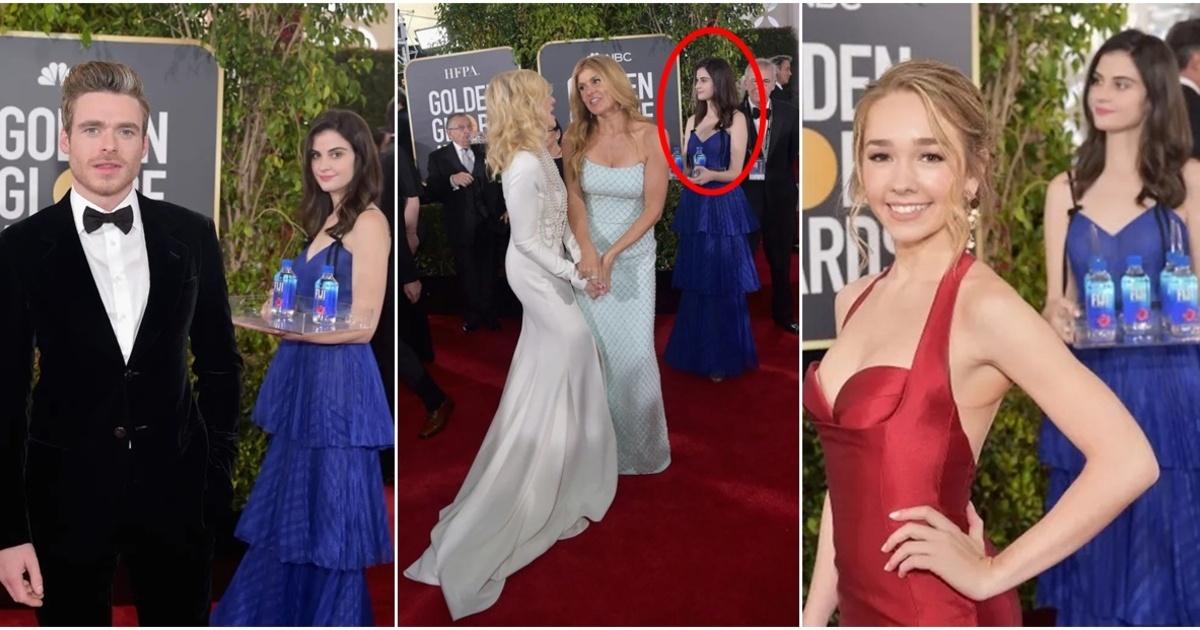 """La """"chica del agua"""" que opaco a las celebridades en los Globos de Oro"""