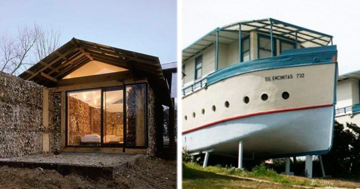 14 fabulosas casas hechas... ¡Con basura! La #13 me cuesta creerlo!