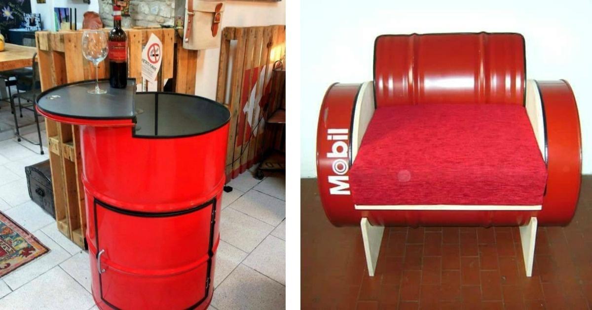 12 increíbles diseños para tu hogar realizados con tambos.