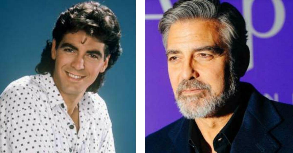 La metamorfosis de George Clooney en 55 años. Wooow!!