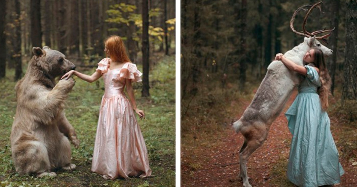 12 asombrosas imágenes entre animales salvajes y guapas modelos. La #10 es una auténtica obra de arte