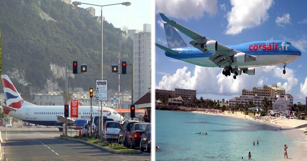 Los 5 aeropuertos más peligrosos del mundo. ¡El avióooooon!