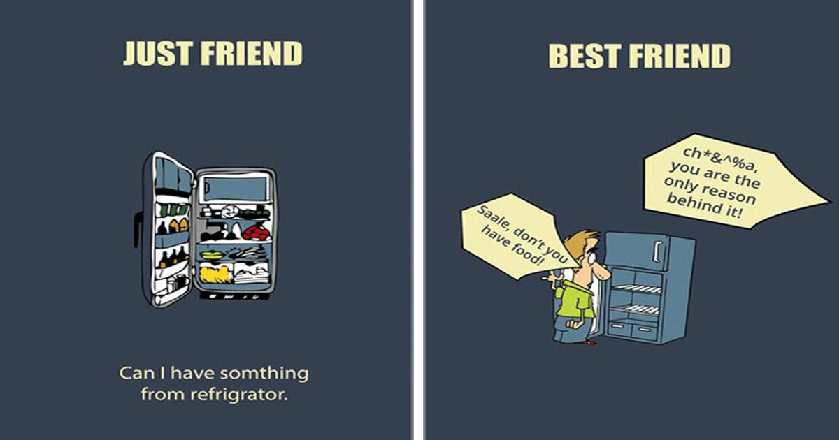 7 Ilustraciones que retratan la diferencia entre un amigo y un mejor amigo.