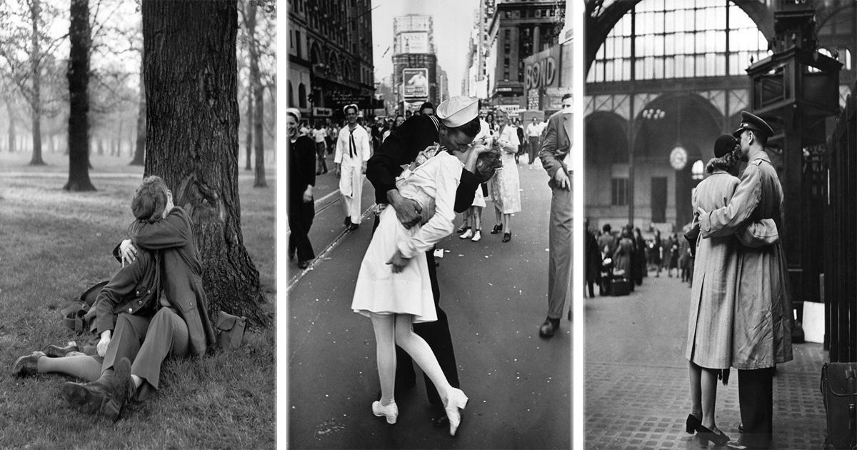18 Fotos románticas que fueron tomadas durante tiempo de guerra.