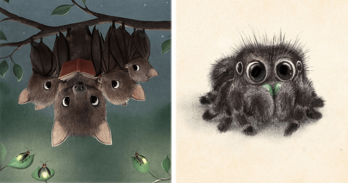 """10 Animales ilustrados de la manera más adorable. ¡Te harán decir """"awww""""!"""