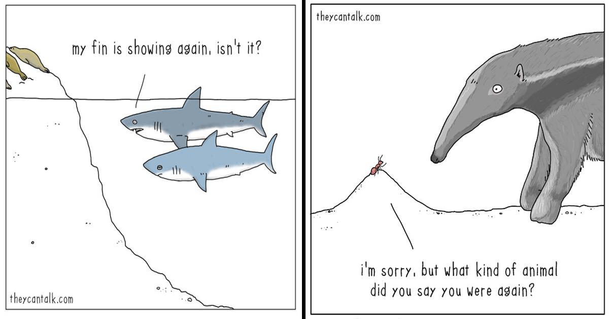 12 Cómics sobre lo que los animales dirían si pudieran hablar.
