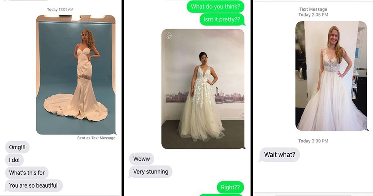 Estas chicas se pusieron vestidos de novia para hacerles bromas a sus novios. ¡Mira en qué resultó!