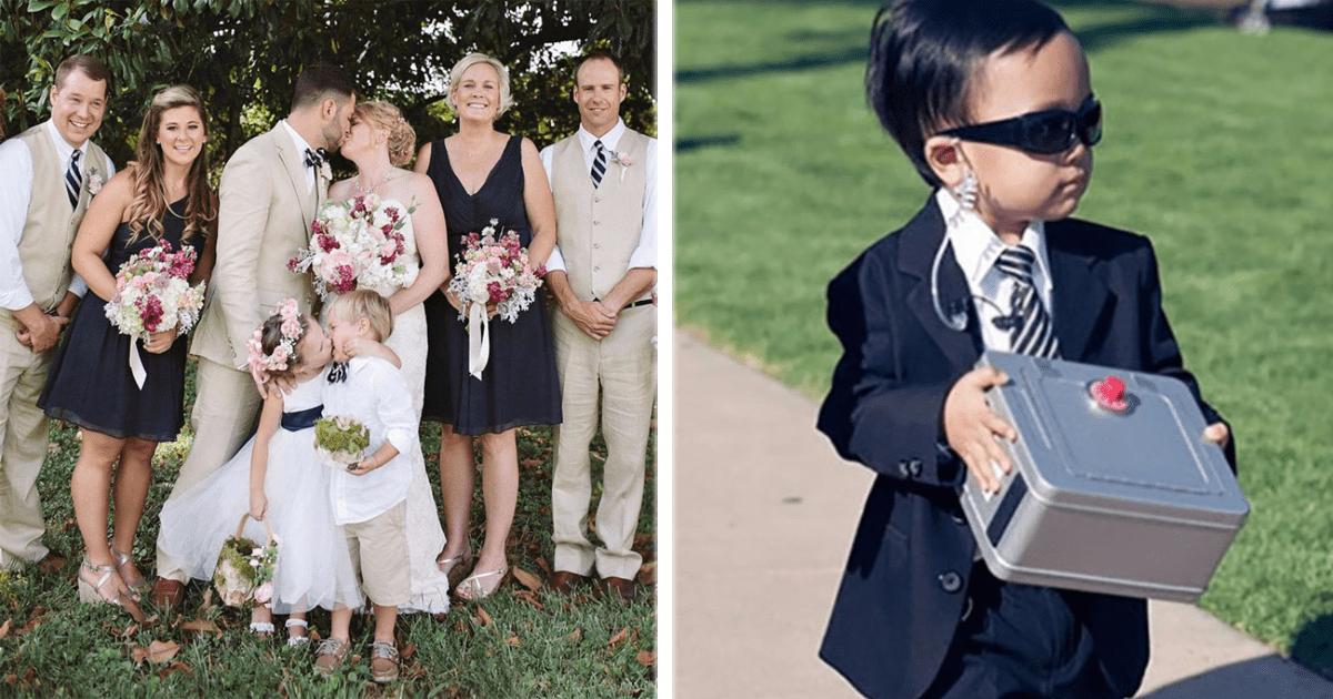 9 Niños que robaron todo el protagonismo en algunas bodas.