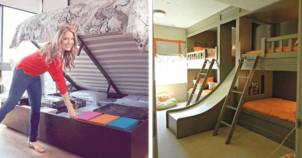 25 geniales ideas para ahorrar espacio en t habitaci n for Como aprovechar espacios pequenos en departamentos