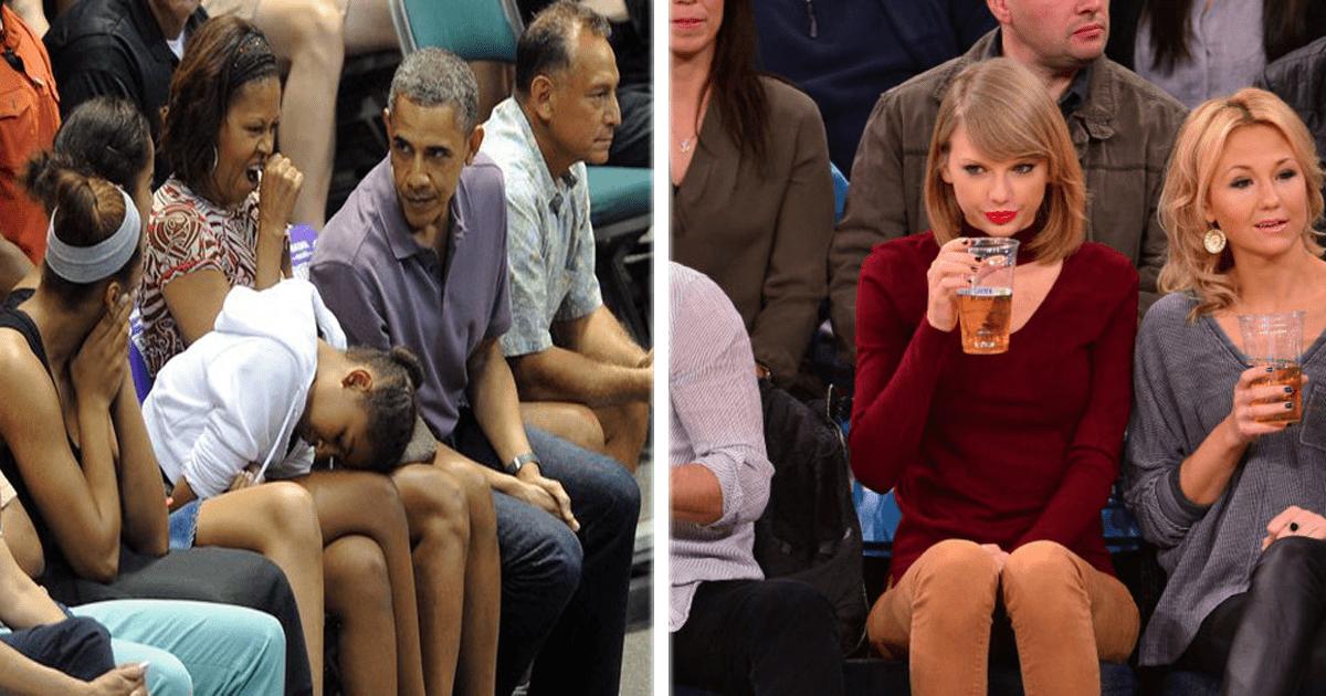 14 Celebridades terriblemente aburridas durante partidos deportivos.