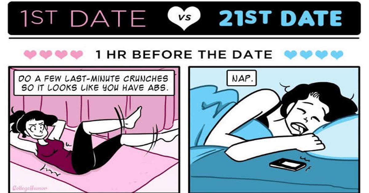 ¡Así es como cambia una pareja de su primer cita a la cita #21!