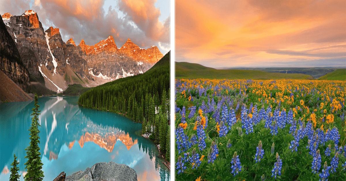 15 Lugares donde la naturaleza explotó en colores. ¡Qué belleza