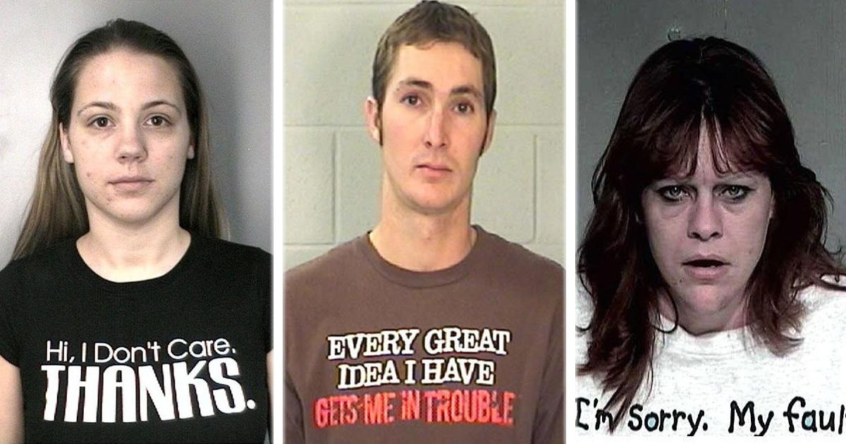 17 Criminales que fueron arrestados con la playera perfecta para la ocasión.