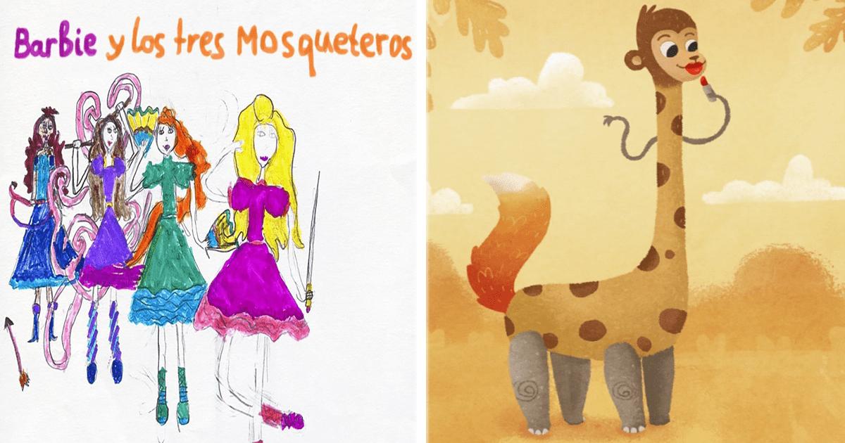 ¡Estos artistas recrearon algunos dibujos de niños y el resultado es impresionante!