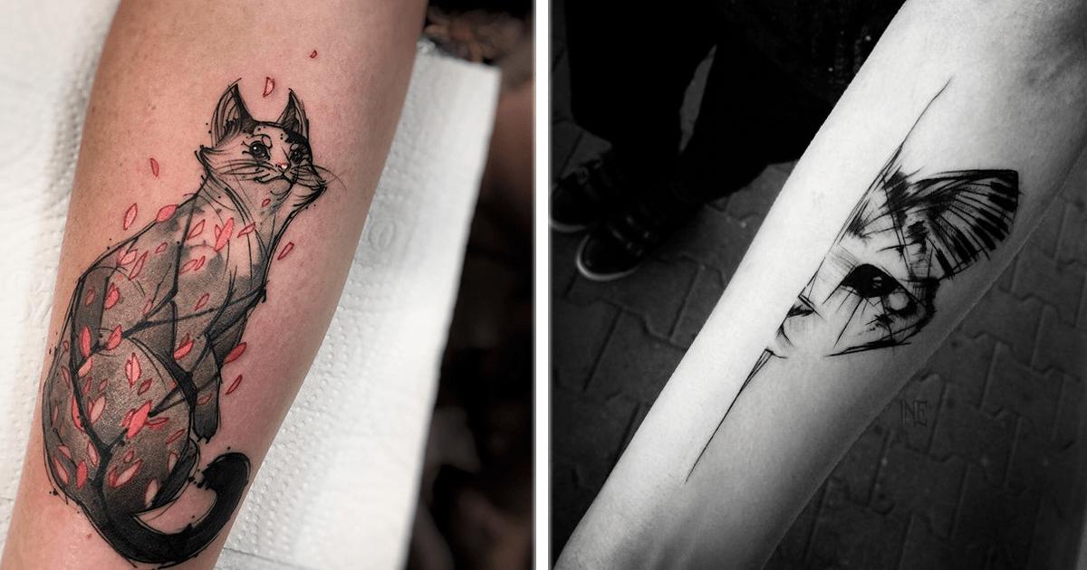 ¡12 Geniales y hermosos tatuajes de gatos! Parte 2.