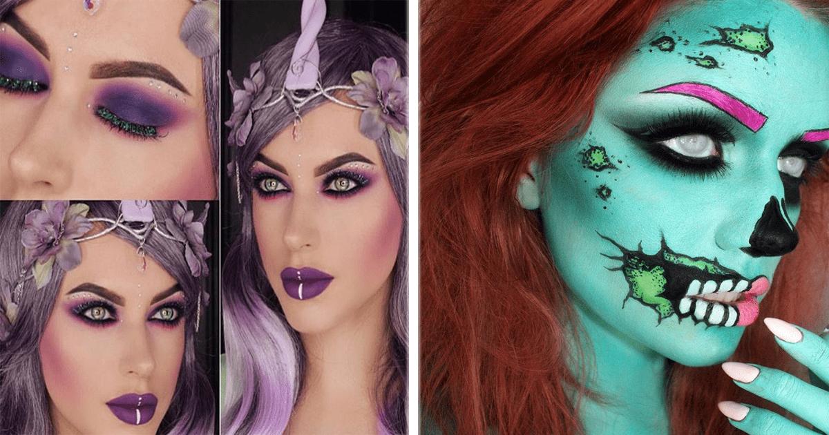 ¡16 Geniales ideas de maquillaje para este Halloween!
