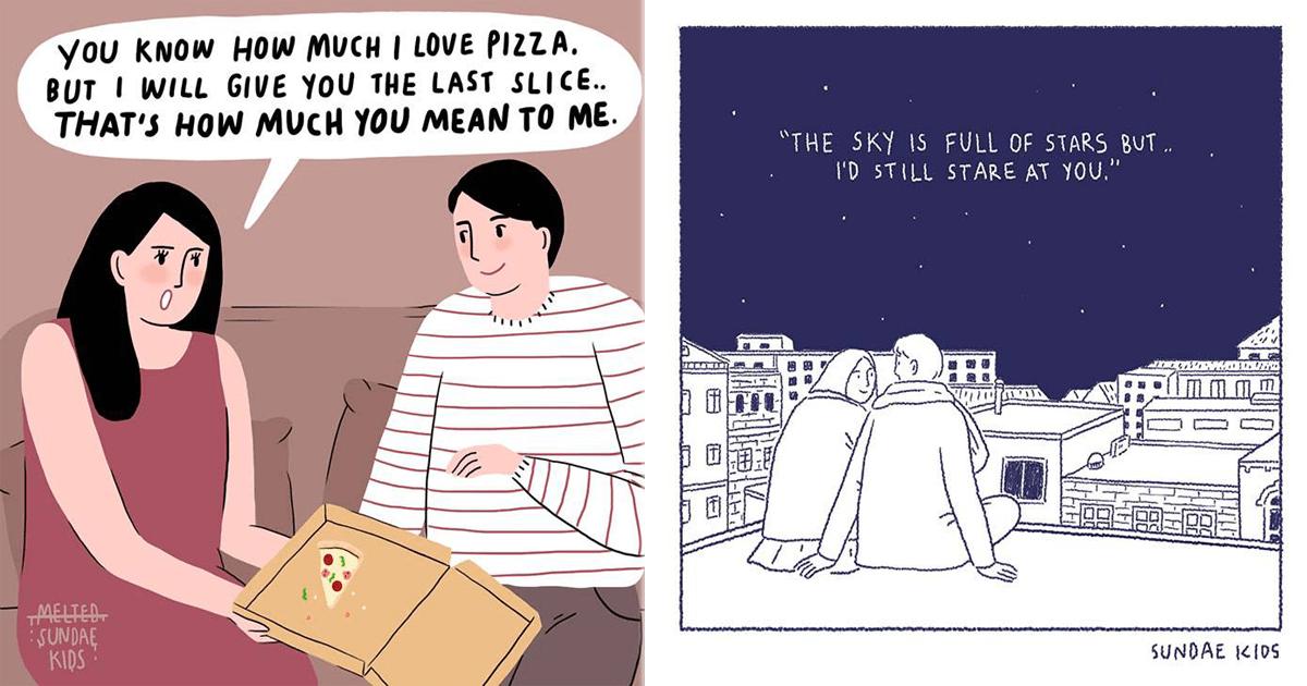 11 Lindas ilustraciones sobre el amor que derraman miel.