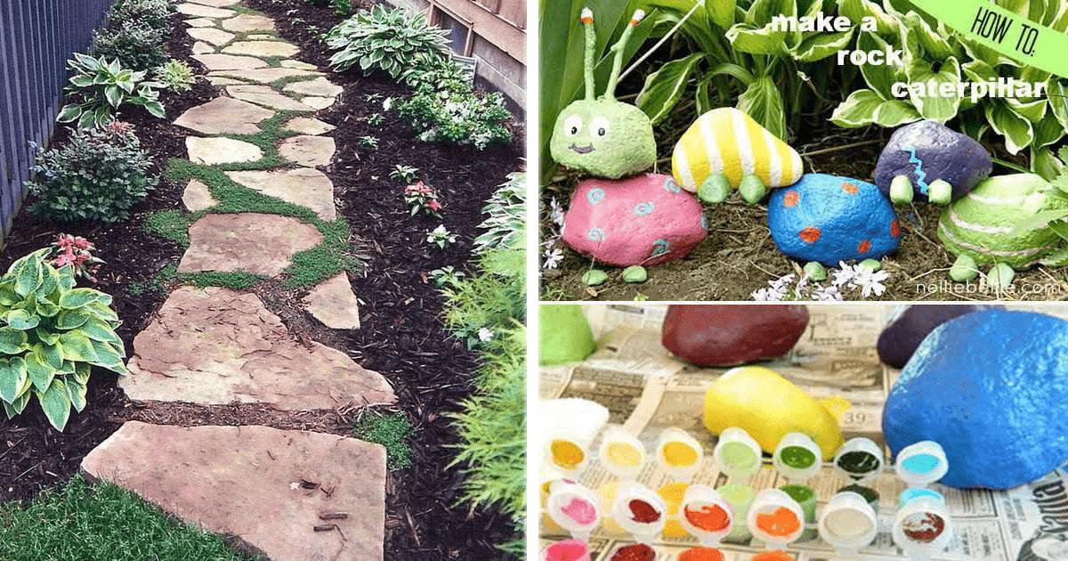 Fabulosas ideas para decorar el jard n con rocas y - Decorar el jardin con piedras ...