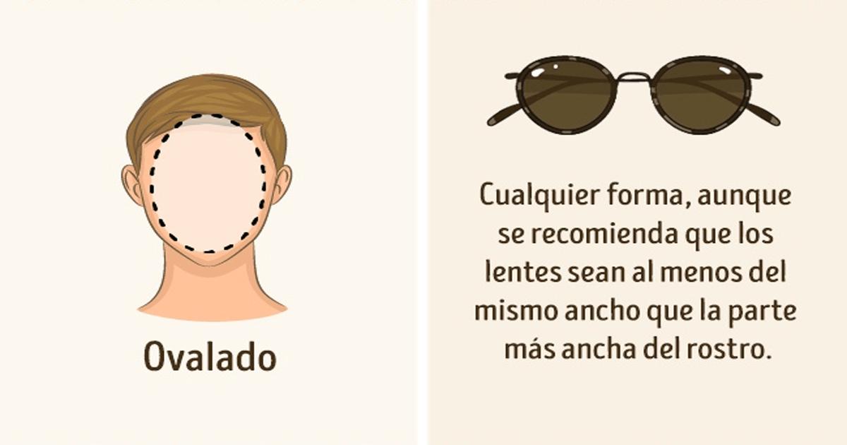 ¿Qué tipo de lentes van con la forma de tu cara? ¡Mira!