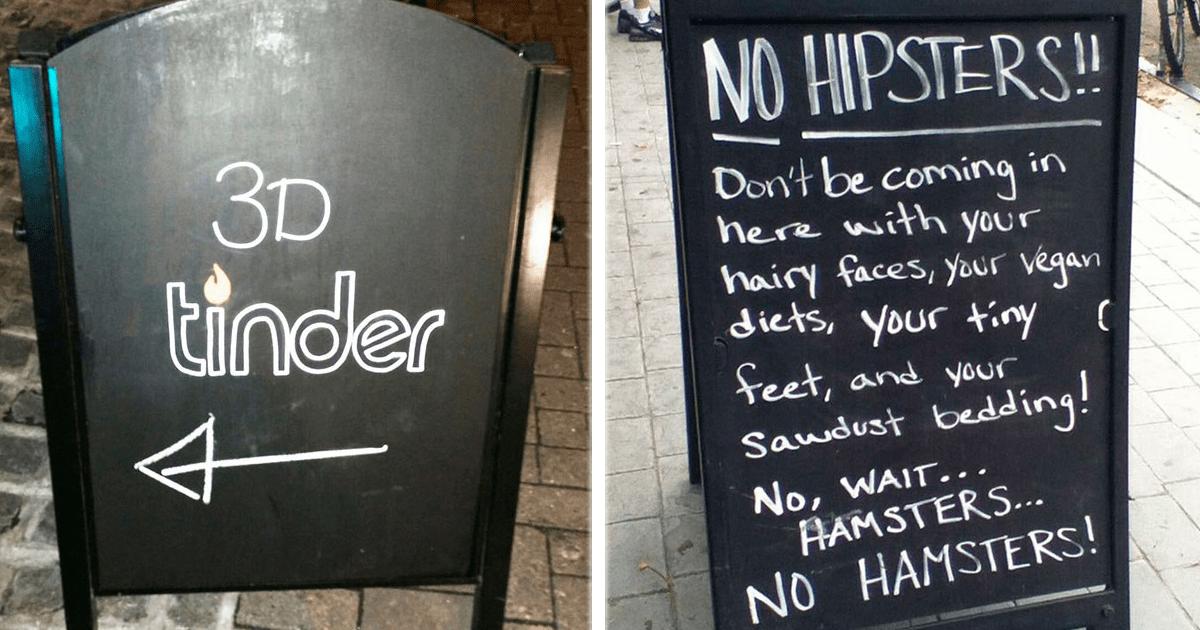 10 Letreros en bares y cafés que te convertirán automáticamente en cliente frecuente.