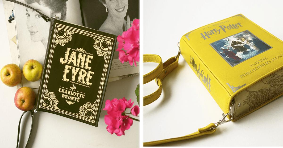 ¡Bolsas en forma de libros que todo amante de la lectura querrá llevar a todas partes!