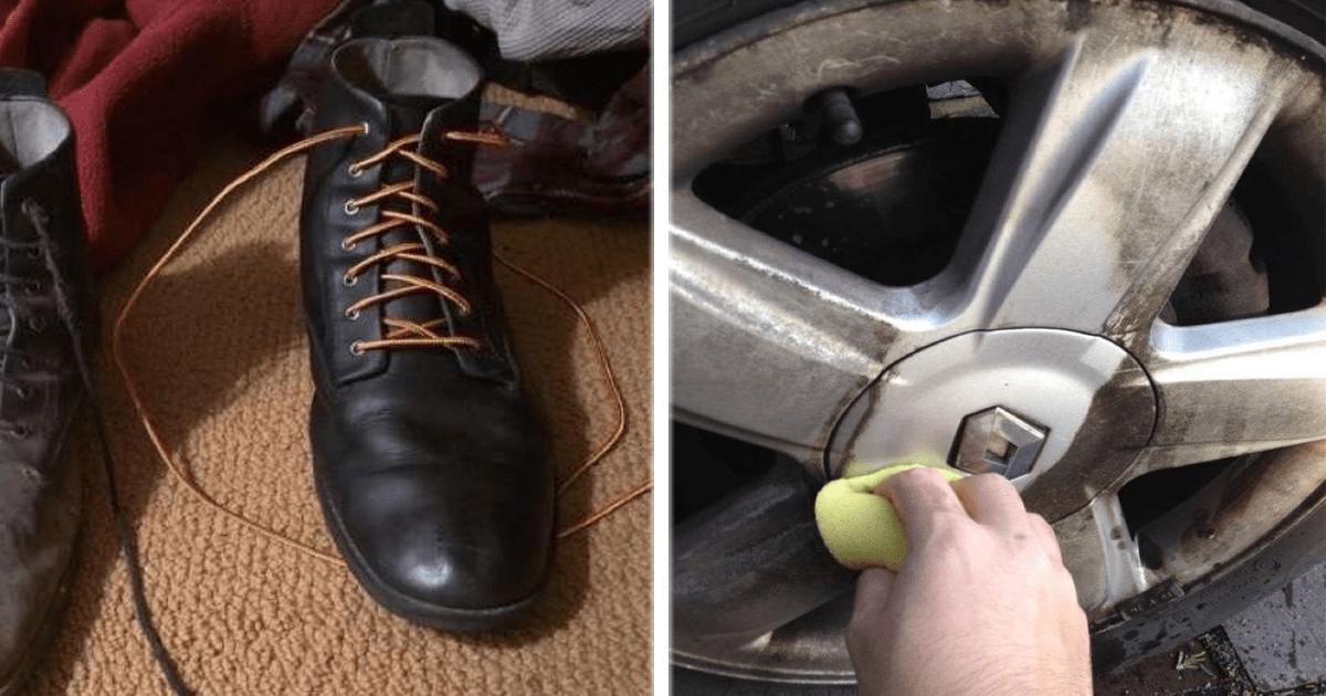 12 Satisfactorias imágenes del antes y después de limpiar objetos muy sucios.