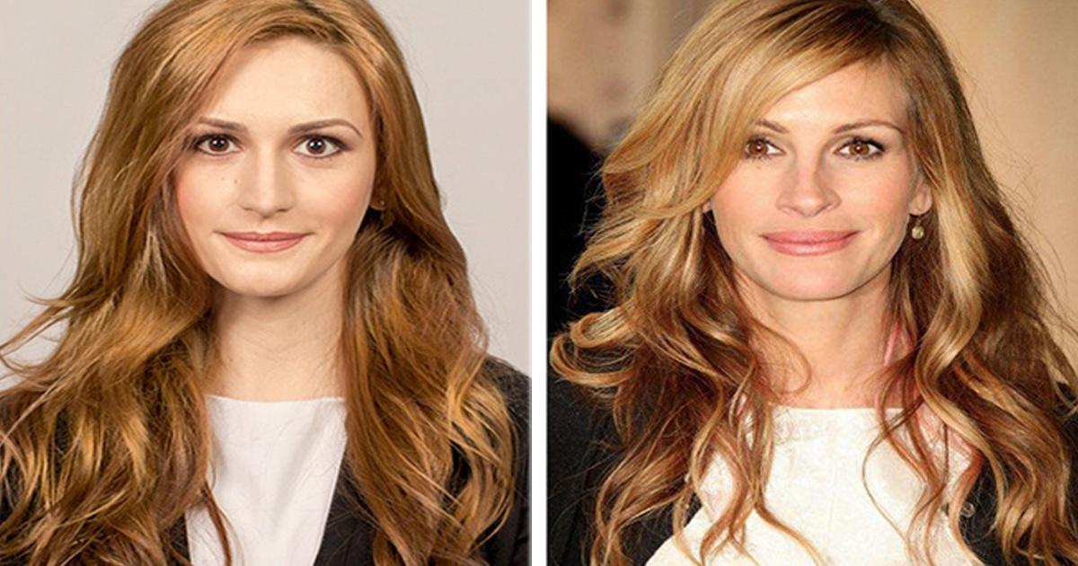 7 Mujeres transformadas con solo maquillaje para lucir como famosas.