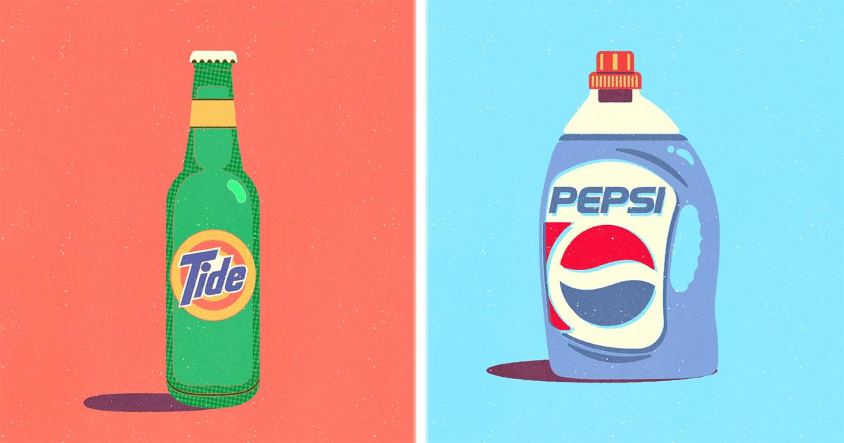 Este artista puso logos conocidos en productos completamente opuestos. ¡Mucho ingenio!