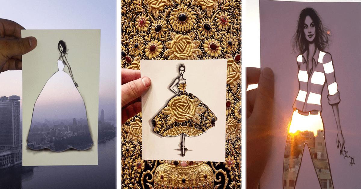 Este ilustrador de moda complementa sus obras con elementos de la vida cotidiana.