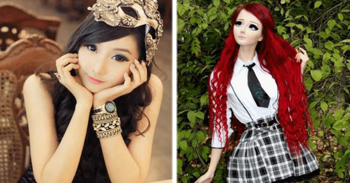 9 Chicas que se obsesionaron con convertirse en muñecas de la vida real.