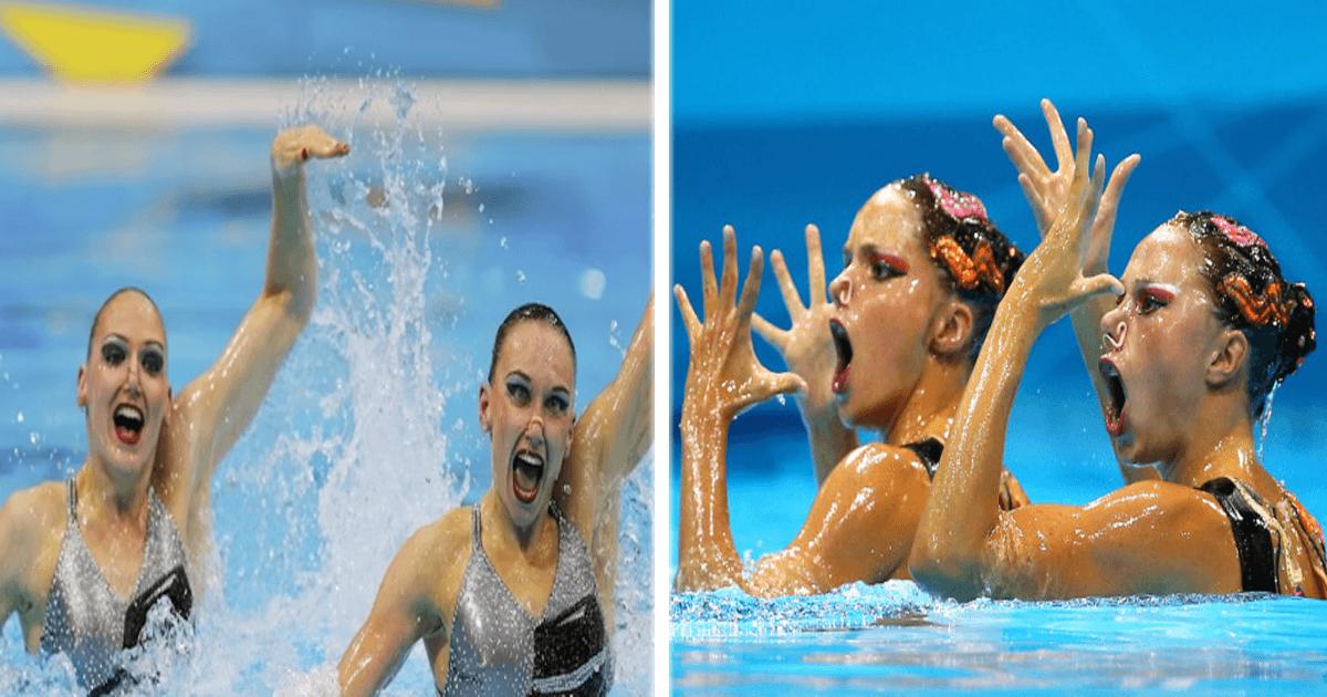 11 Fotos de nado sincronizado con las expresiones faciales más graciosas.