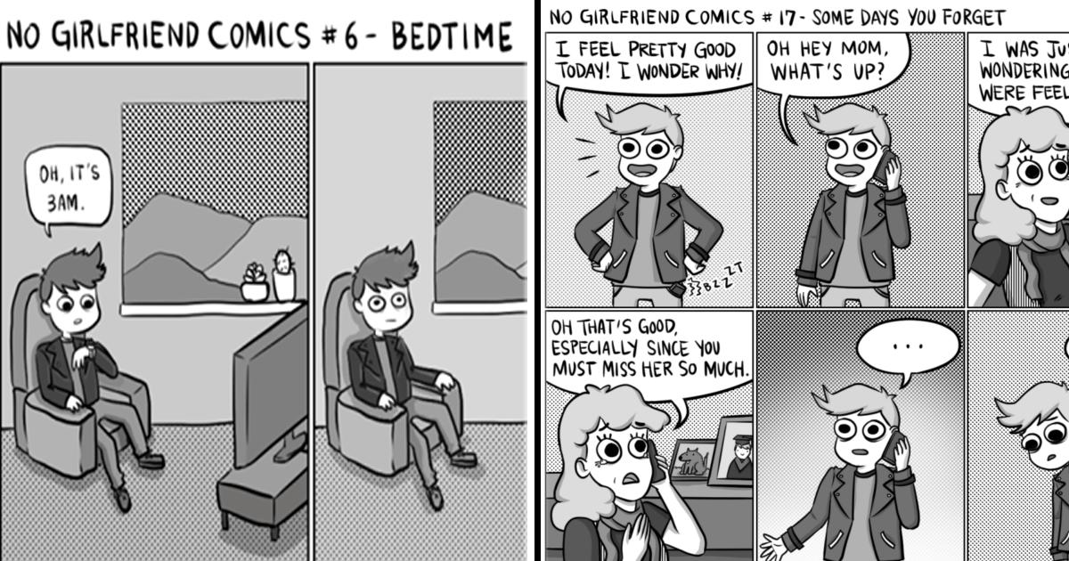 La complicada vida de un chico después de una ruptura en 13 ilustraciones.