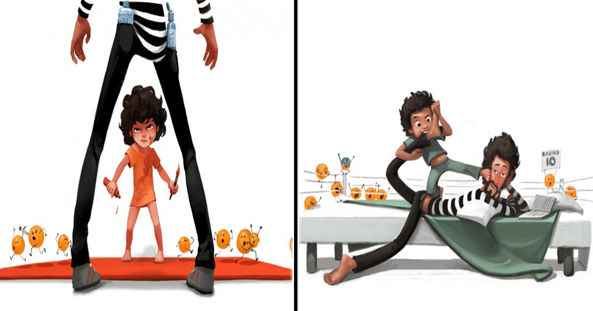 10 Ilustraciones con las que cualquier padre se sentirá identificado.
