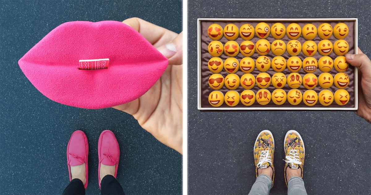 Esta cuenta de Instagram combina deliciosos postres con calzado masculino. ¡Genial!