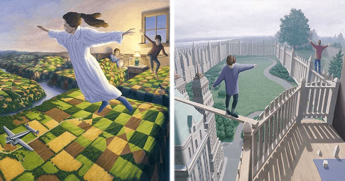 ¡10 Maravillosas pinturas de Rob Gonsalves!