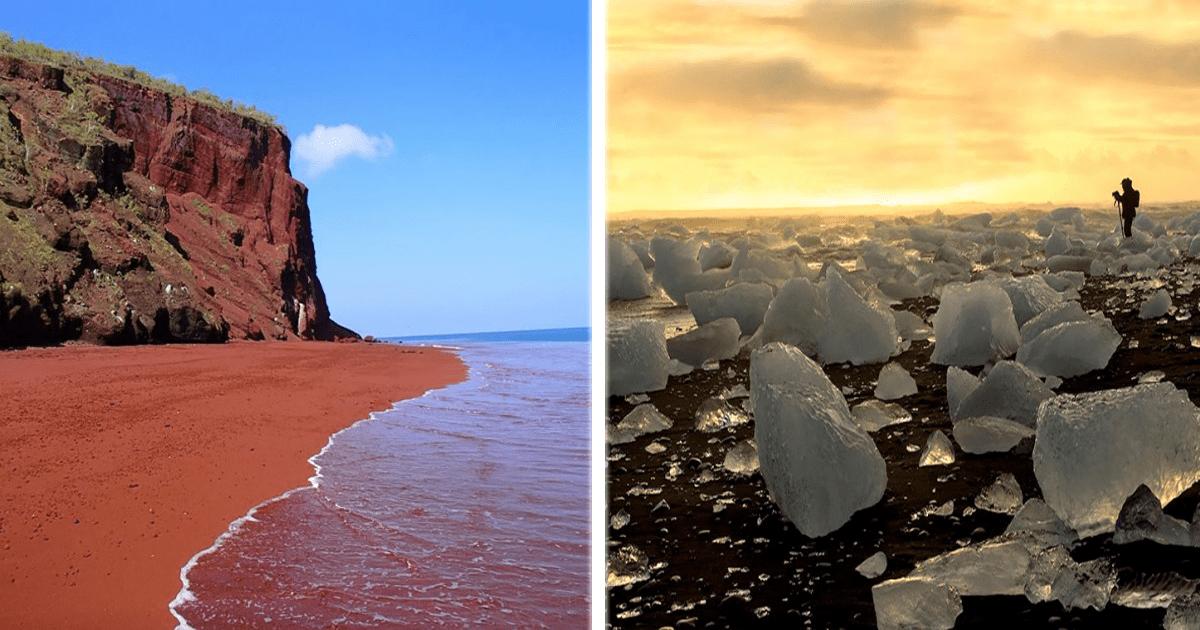 Las 15 playas más raras y espectaculares de todo el mundo.