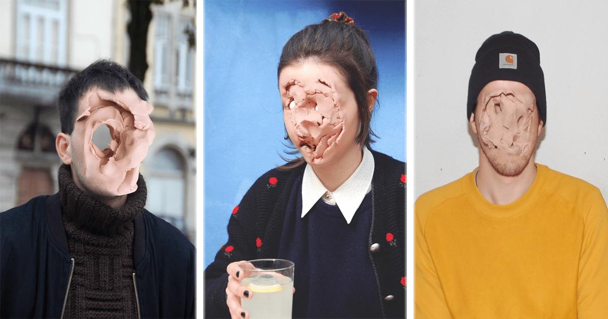 Play-Doh y Photoshop artista deforma rostros de sus víctimas