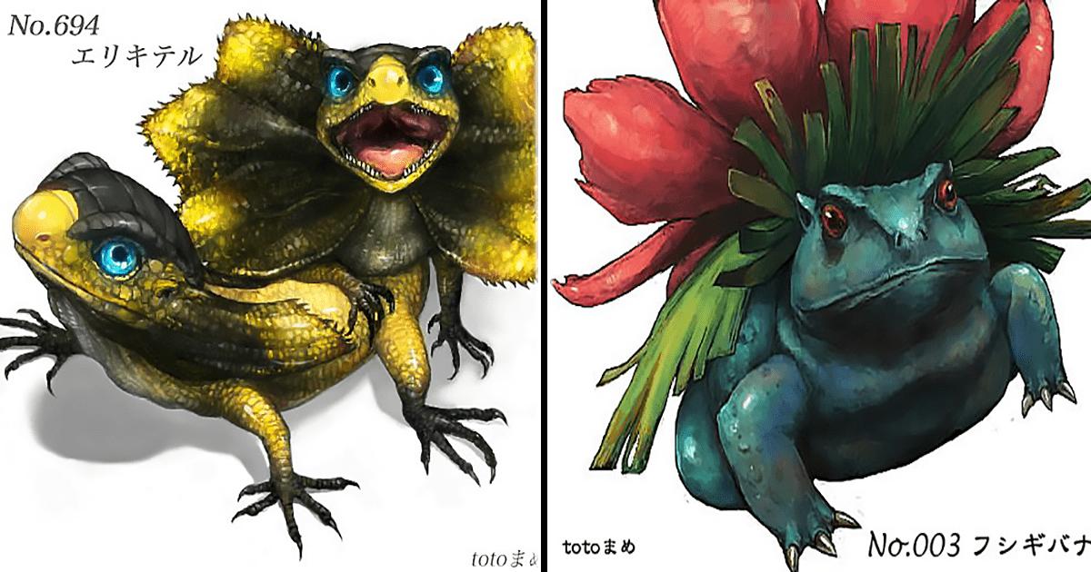 12 Pokémones recreados como animales reales.
