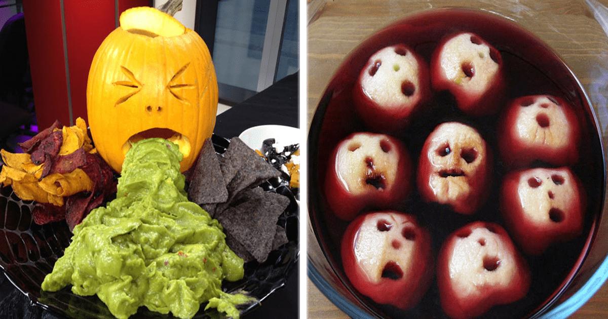 11 Ideas de snacks y comida para las fiestas de Halloween.