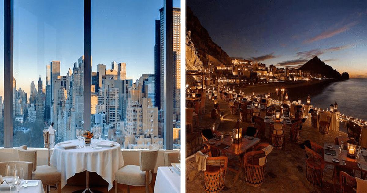 12 Restaurantes con las vistas más espectaculares del mundo.