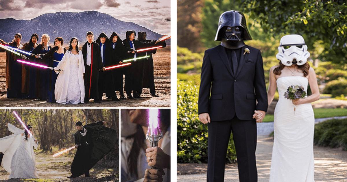 """¿Te gusta """"Star Wars"""" y vas a casarte? Tal vez estas sean buenas ideas para tu boda."""