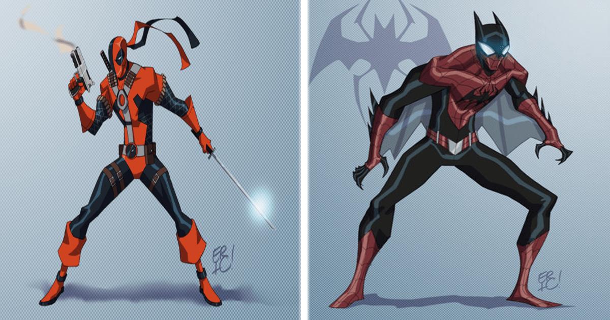 11 Personajes de DC Cómics y Marvel fusionados en uno nuevo.