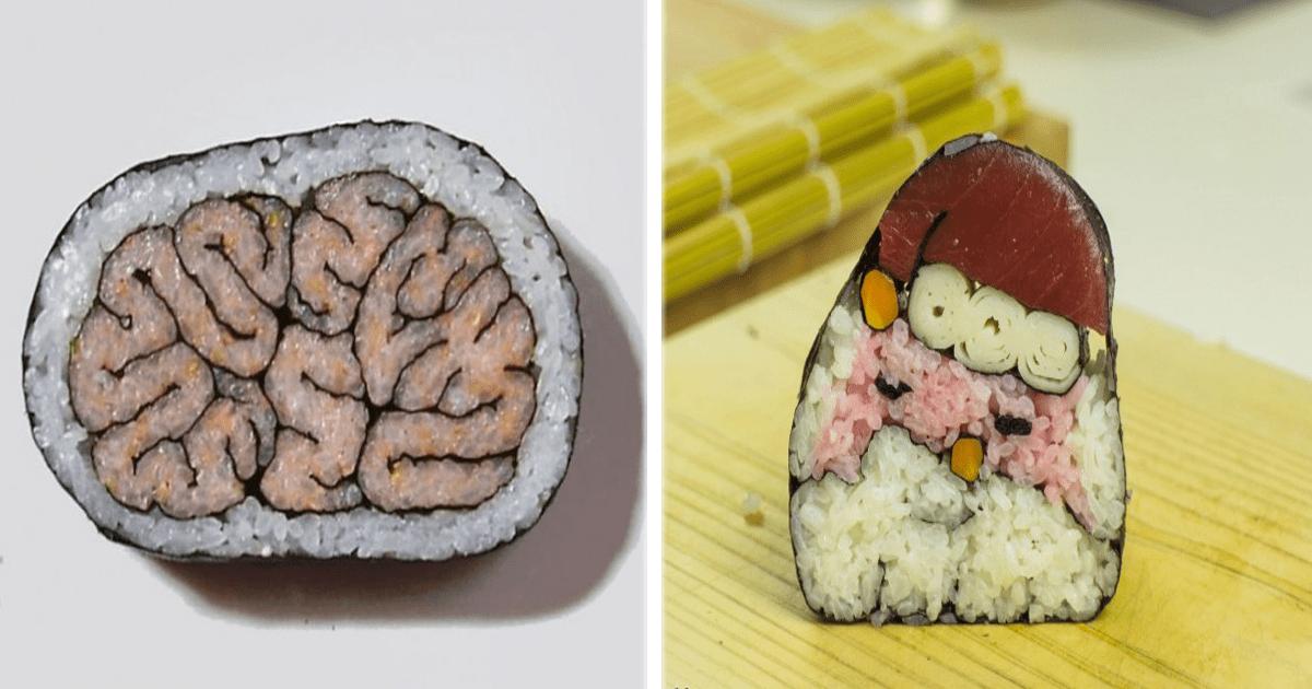 ¡El sushi además de delicioso también es un lienzo de arte!