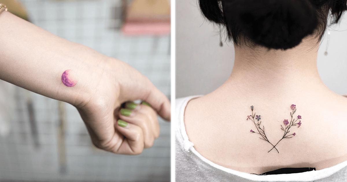 11 Increíbles y delicados tatuajes del artista coreano Hongdam.